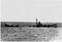USS Corry sinking on D-Day. Click image to view larger photo